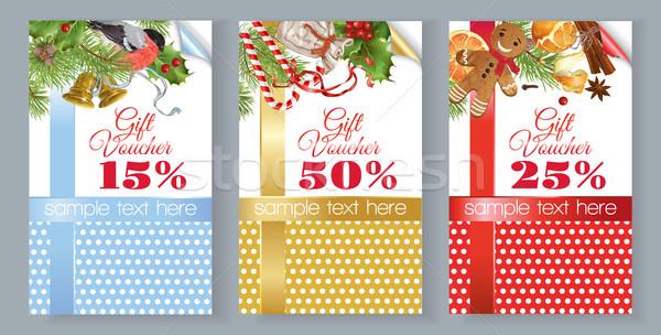Christmas gift voucher Stock photo © PurpleBird