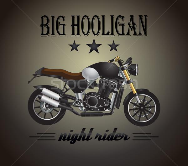 Motosiklet grafik afiş vektör ilham verici reklam Stok fotoğraf © PurpleBird