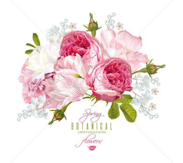 Romantic flowers composition Stock photo © PurpleBird