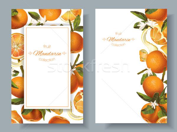 Mandarin vertical banners Stock photo © PurpleBird