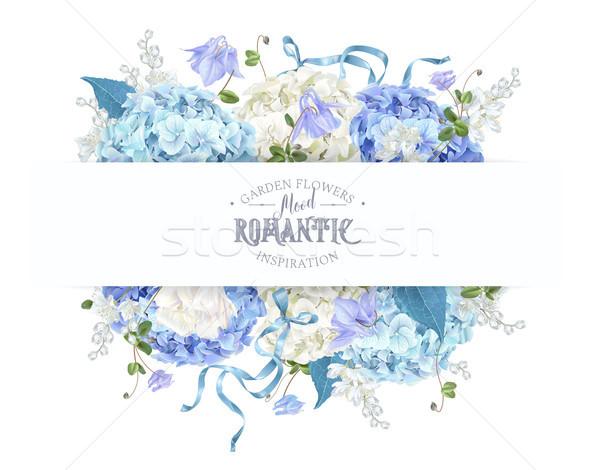 Hydrangea spring composition Stock photo © PurpleBird