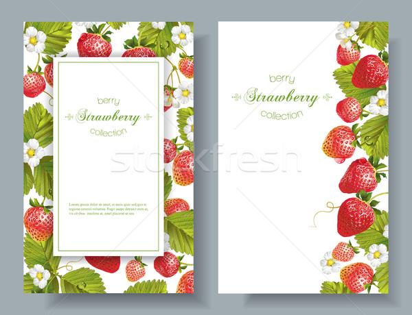 Strawberry vertical banners Stock photo © PurpleBird
