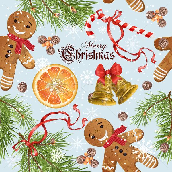 Christmas vintage pattern Stock photo © PurpleBird