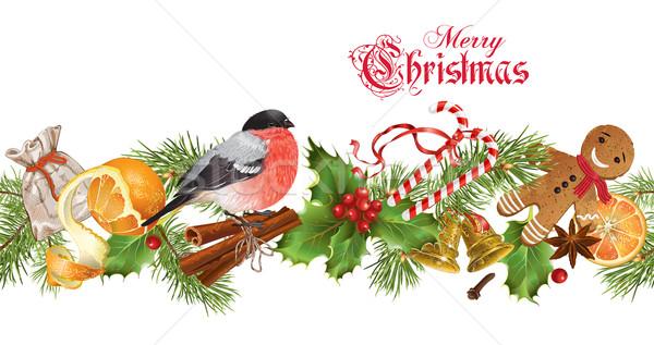 Christmas seamless border Stock photo © PurpleBird