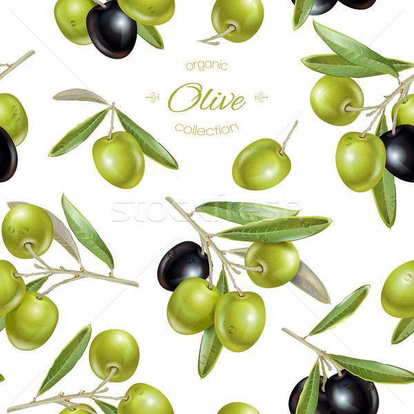 Olive seamless pattern Stock photo © PurpleBird