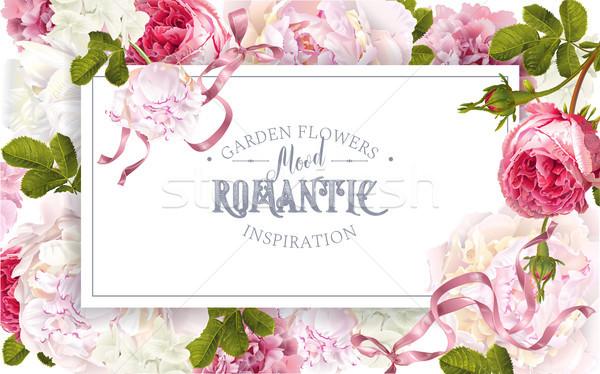Romantic garden frame Stock photo © PurpleBird