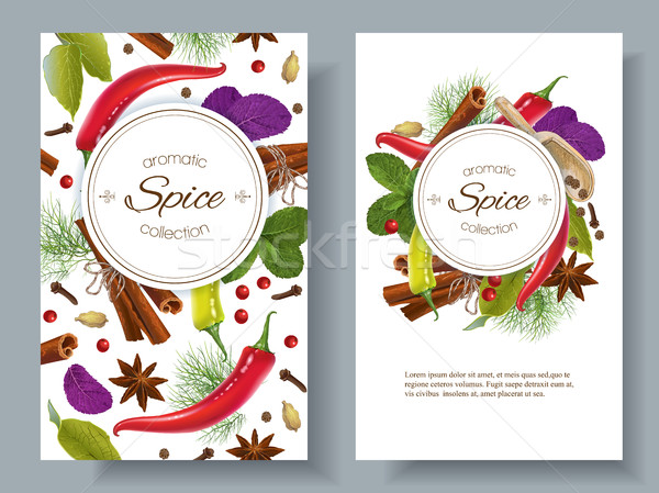 Spice vertical banners Stock photo © PurpleBird