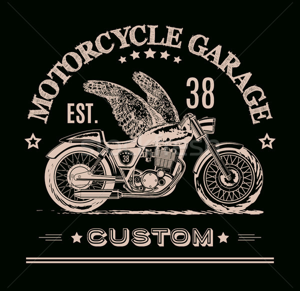 Morotcycle custom banner Stock photo © PurpleBird