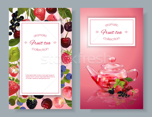 Berry tea banners Stock photo © PurpleBird