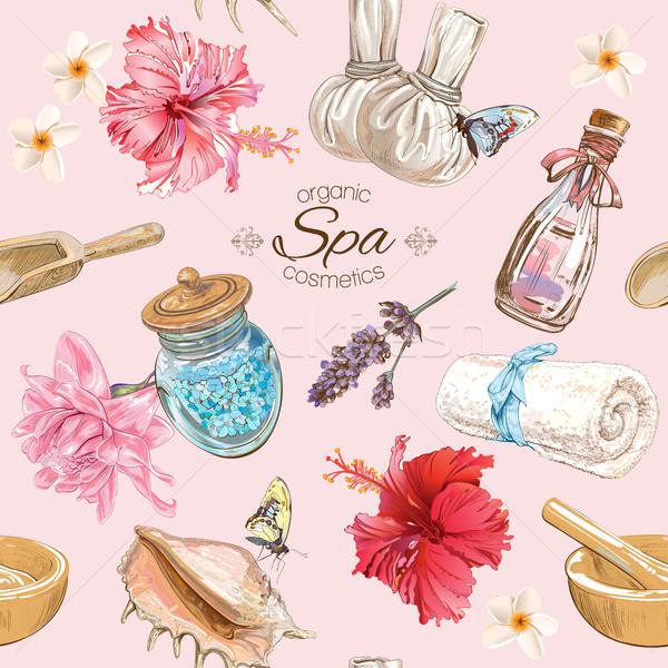 Tropic style spa pattern Stock photo © PurpleBird