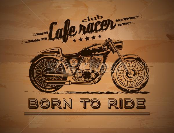 Motorcycle graphic banner Stock photo © PurpleBird