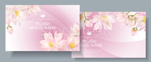 Lotus horizontal banners Stock photo © PurpleBird