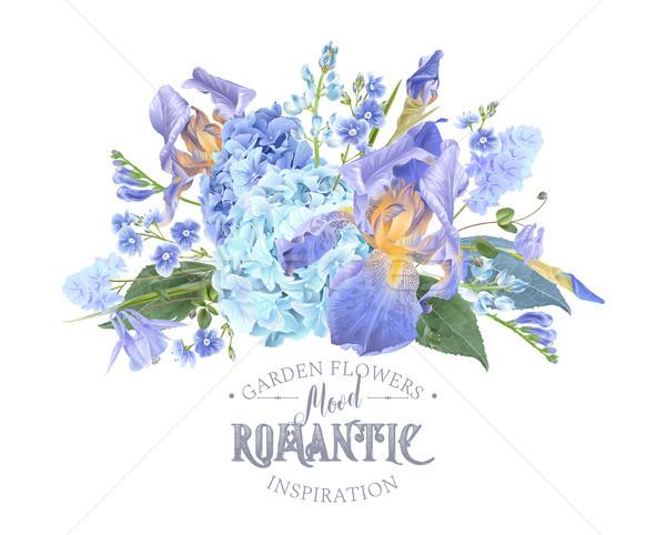 Hidrangea iris composition Stock photo © PurpleBird