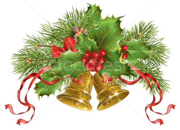 Рождества баннер вектора традиционный украшение рождественская елка Сток-фото © PurpleBird