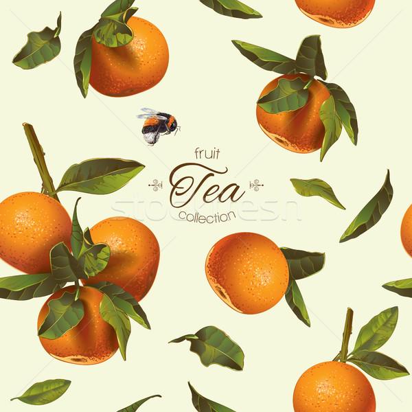 Orange tea pattern Stock photo © PurpleBird