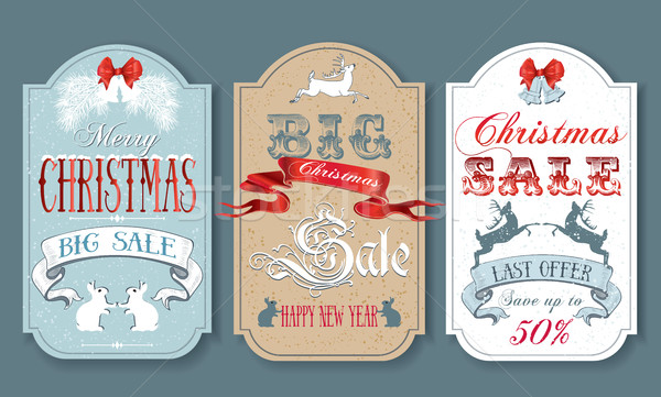 Christmas Sale Tags Stock photo © PurpleBird