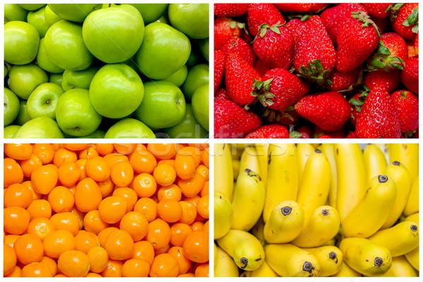 Kolaż świeże owoce warzyw żywności jabłko lata Zdjęcia stock © pxhidalgo