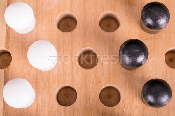 Chinese spel hout sport tijd Stockfoto © pxhidalgo