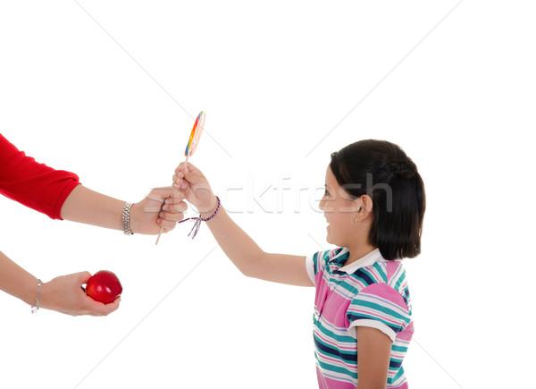 Little hispanic girl with big lollipop Stock photo © pxhidalgo