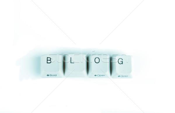 Stock photo: Blog word written with computer buttons
