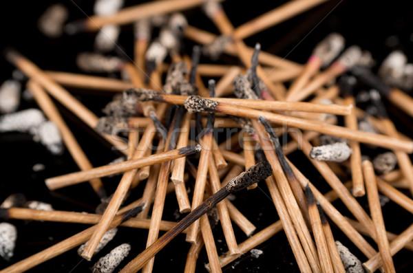 Group of burned matches Stock photo © pxhidalgo