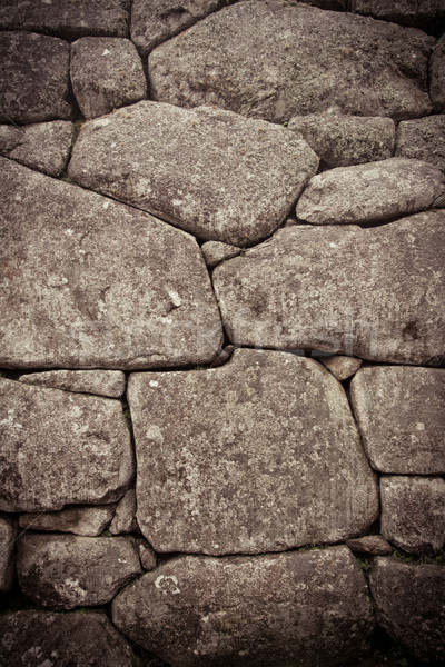 Inca wall detail, color processed Stock photo © pxhidalgo