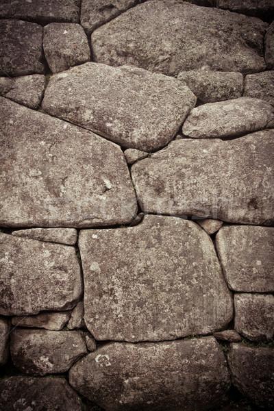 Inca muro dettaglio colore abstract rock Foto d'archivio © pxhidalgo