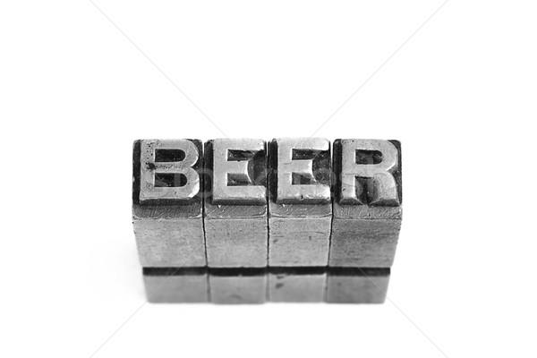 Beer  retro sign. Stock photo © pxhidalgo