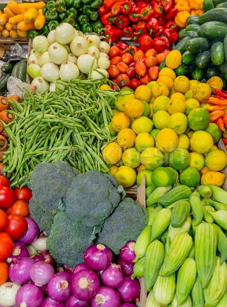 Fruits and vegetables at a farmers market Stock photo © pxhidalgo