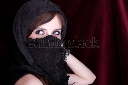 Beautiful woman in traditional veil Stock photo © pxhidalgo
