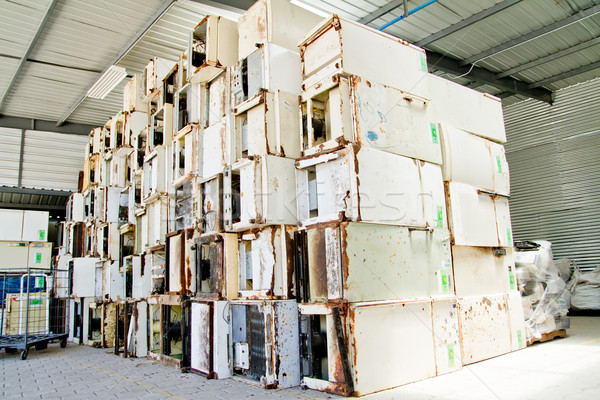 reduce, reuse, recycle of refrigerators in a recycling plant. Stock photo © pxhidalgo