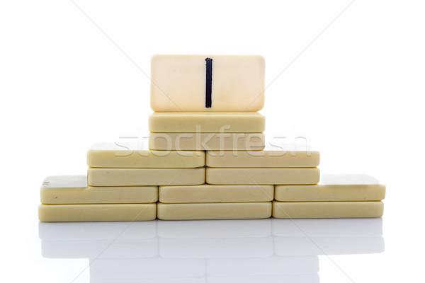 Stockfoto: Domino · gebouw · vorm · piramide · witte · patroon