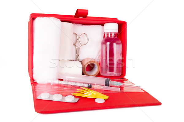 first aid kit on a white background Stock photo © pxhidalgo