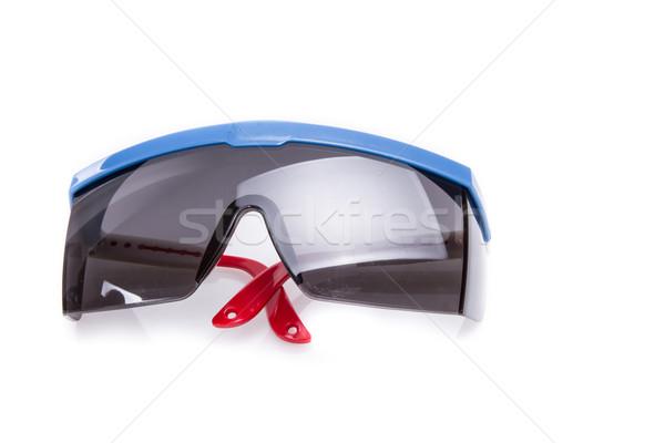 保護眼鏡 孤立した 白 眼 顔 建設 ストックフォト © pxhidalgo