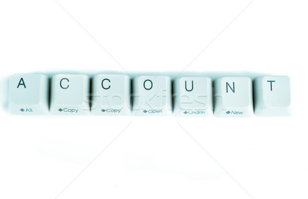 Account word written with computer buttons Stock photo © pxhidalgo