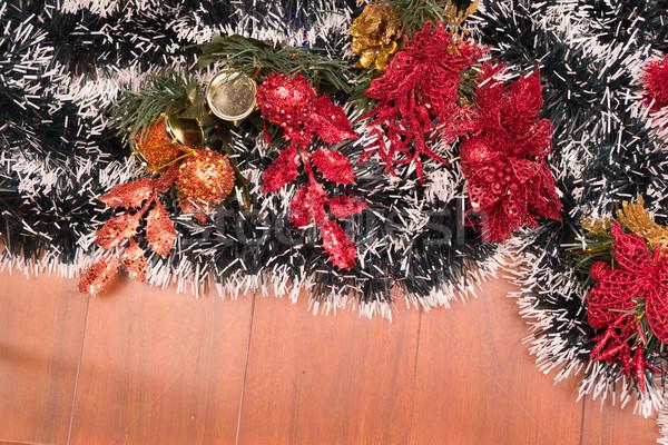 Kerstboom decoratie bal lichten licht achtergrond Stockfoto © pxhidalgo