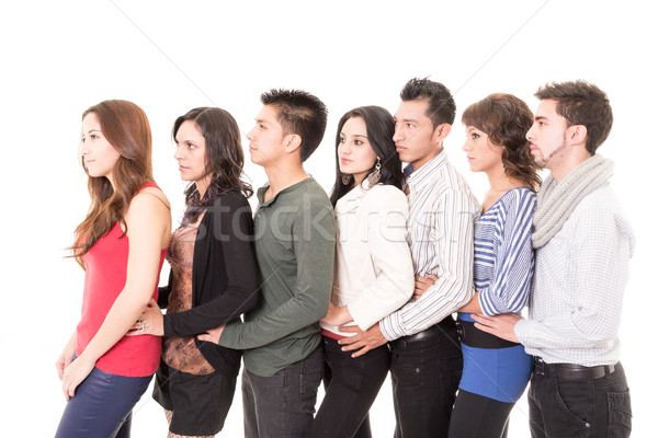Multi Ethnic People Standing In A Row Stock photo © pxhidalgo