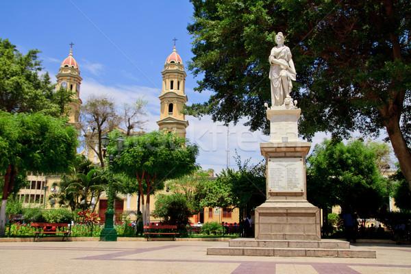 Main square plaza in Piura, Peru Stock photo © pxhidalgo