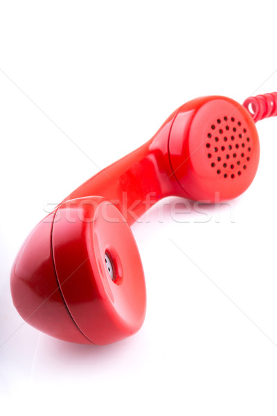 Rotary telephone handset with white background Stock photo © pxhidalgo
