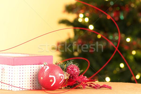 Christmas de-focused lights with tree Stock photo © pxhidalgo