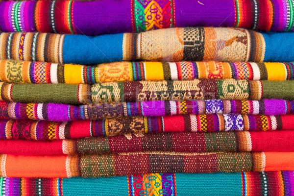 colorful peruvian fabric background Stock photo © pxhidalgo