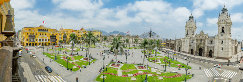 Plaza de armas in Lima, Peru Stock photo © pxhidalgo