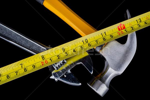 set of tools and instruments on wood background. Stock photo © pxhidalgo