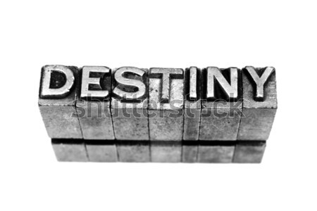 Stock photo: destiny sign
