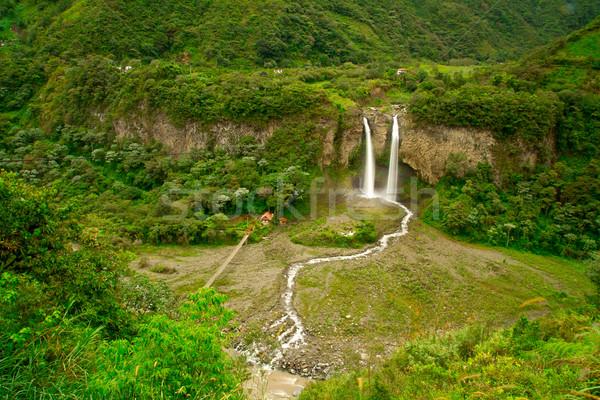 滝 熱帯雨林 方法 池 ジャングル ストックフォト © pxhidalgo