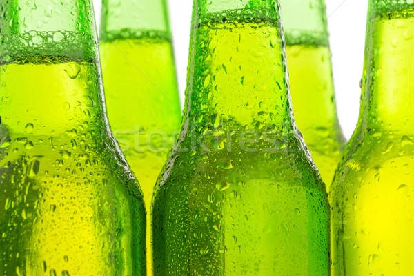 Row of beer bottles Stock photo © pxhidalgo