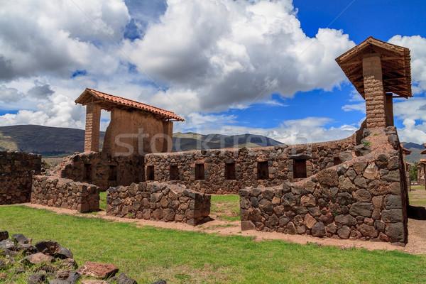 Peru szent romok felhők fal tájkép Stock fotó © pxhidalgo
