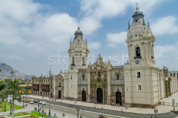 Catedral lima Peru edifício torre religião Foto stock © pxhidalgo