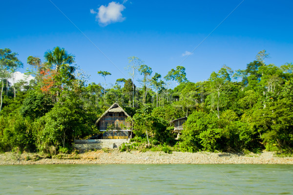 Amazon Fluss blau Himmel Wasser Landschaft Stock foto © pxhidalgo