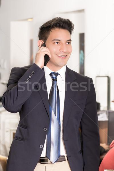 成功した 小さな ヒスパニック ビジネスマン 幸せ ビジネスマン ストックフォト © pxhidalgo